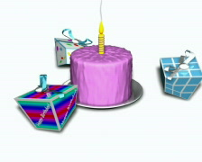 Presents dacing around birthday caka Loopable PAL Stock Footage