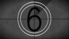 Countdown Leader B/W Jitter  (1 of 8) Stock Footage