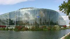 European Parliament in Strasbourg Stock Footage