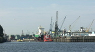 Stock Video Footage of Hamburg Container Harbour - with sound