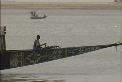 Boat on the Niger Stock Footage