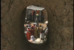 Market through hole Stock Footage