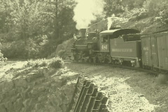 Steam engine corner tint 9 Stock Footage