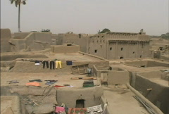 View of Djenne roofs Stock Footage