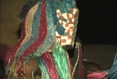 Dogon masked dancers Stock Footage