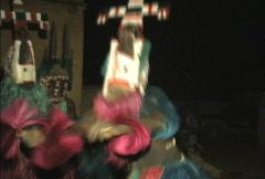 Dogon dances preformed by village dancers Stock Footage