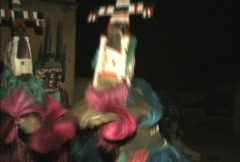 Stock Video Footage of Dogon dances preformed by village dancers