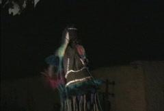 Stock Video Footage of Dogon masked dancer