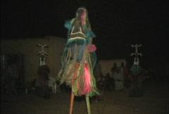 Dogon dancer on stilts Stock Footage