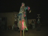 Dogon dancer on stilts Stock Footage