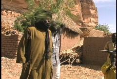 Dogon men  Stock Footage
