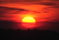 Dogon sunset Stock Footage