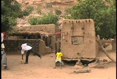 Dogon village in Mali Stock Footage