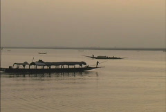 Mali Boats on the Niger Stock Footage