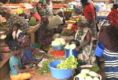 Inside market in Mali Stock Footage