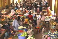 Inside market Mali Stock Footage