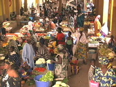 Stock Video Footage of Inside market Mali
