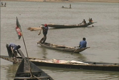 Fisherman on the Niger Stock Footage