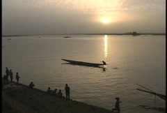 Niger River sunset Mali 1 Stock Footage