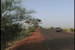 Road and traffic Mali Stock Footage