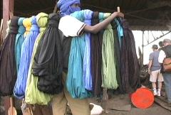 Selling Tuareg headresses Stock Footage