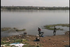 Washing in Niger Mali Stock Footage