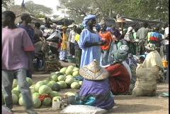 Woman in Senegal market  - stock footage