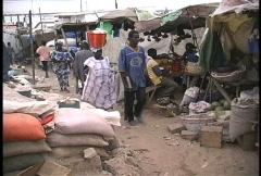 City market Senegal - stock footage