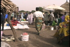 People in Senegal market - stock footage