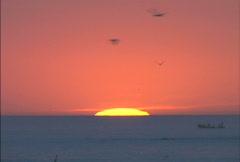 Senegal sunset - stock footage