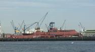 Stock Video Footage of Hamburg Dock Elbe 16