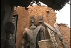 Dogon ancestors - stock footage