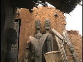 Stock Video Footage of Dogon ancestors