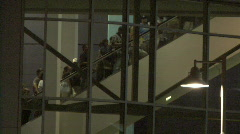 Baseball Fans & Escalator Stock Footage