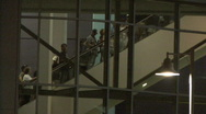 Stock Video Footage of Baseball Fans & Escalator