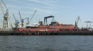 Stock Video Footage of Hamburg Dock Elbe 16