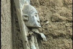 Dogon carving old Stock Footage