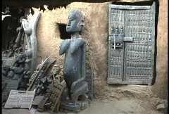 Dogon carvings  Stock Footage
