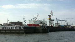 Hamburg Dock Elbe 17 Stock Footage