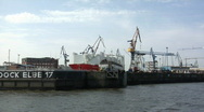 Stock Video Footage of Hamburg Dock Elbe 17