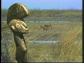 Stock Video Footage of Statue and wildlife