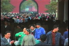 China 1992 Gate to Forbidden City1 Stock Footage