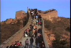 China 1992 Panasonic SVHS_Great Wall view Stock Footage