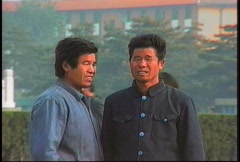 China 1992 Men in Mao suits Stock Footage