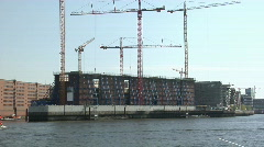 Elbphilharmonie Hamburg construction site Stock Footage