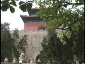 Stock Video Footage of Wall and pagoda Ming Tomb