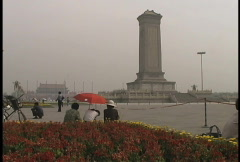 Smog at Tiananmen Square Stock Footage