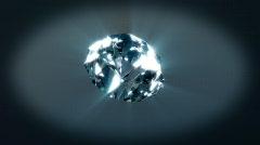 Diamond rotating on xyz axes Stock Footage