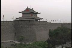 Walls of Xian Stock Footage