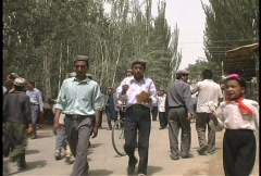 People near Hotan  Stock Footage